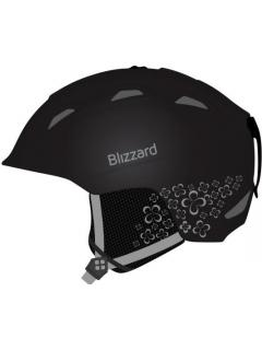 BLIZZARD VIVA DEMON ski helmet,  black matt/silver flowers 56-59 cm