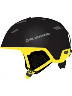 BLIZZARD DOUBLE ski helmet, ,  black matt/neon yellow