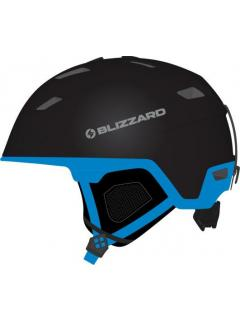BLIZZARD DOUBLE ski helmet, black matt/blue