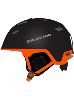 BLIZZARD DOUBLE ski helmet,  black matt/neon orange